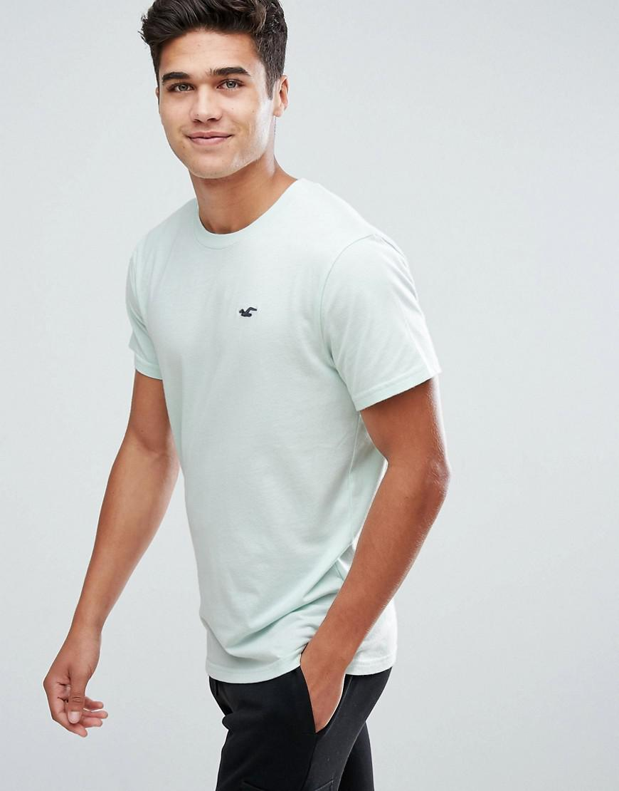 fcc2bd5f30be Hollister Crew T-shirt Slim Fit Core Icon Logo In Turquoise in Blue ...