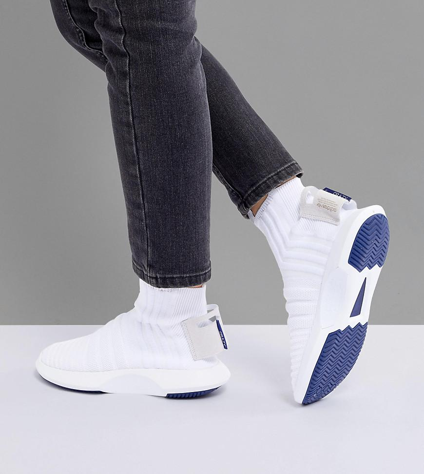 buy popular 4bcc5 10dd4 adidas originals crazy 1 adv sock primeknit sneakers in white white adidas  originals. womens crazy 1 adv