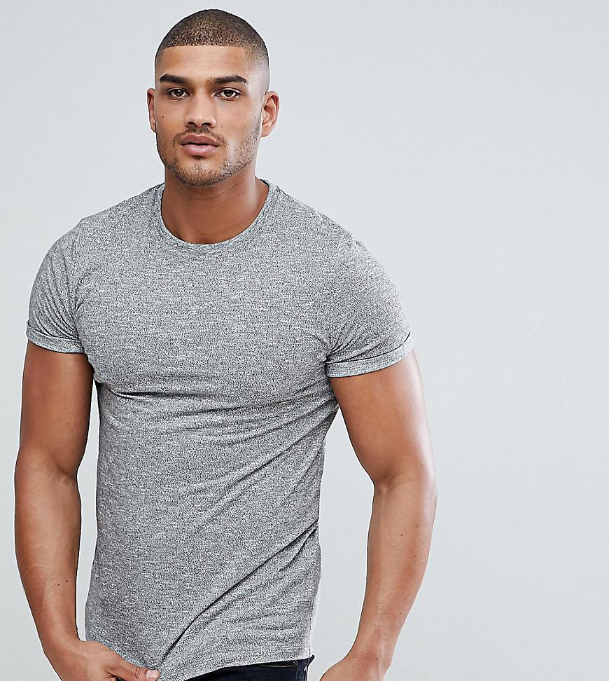 T-Shirt With Roll Sleeve In Heavyweight Twisted Jersey - Grey Asos Cheap Outlet Cheap Sale Many Kinds Of Outlet Cheap Buy Cheap Professional 20Lt3EWC3N