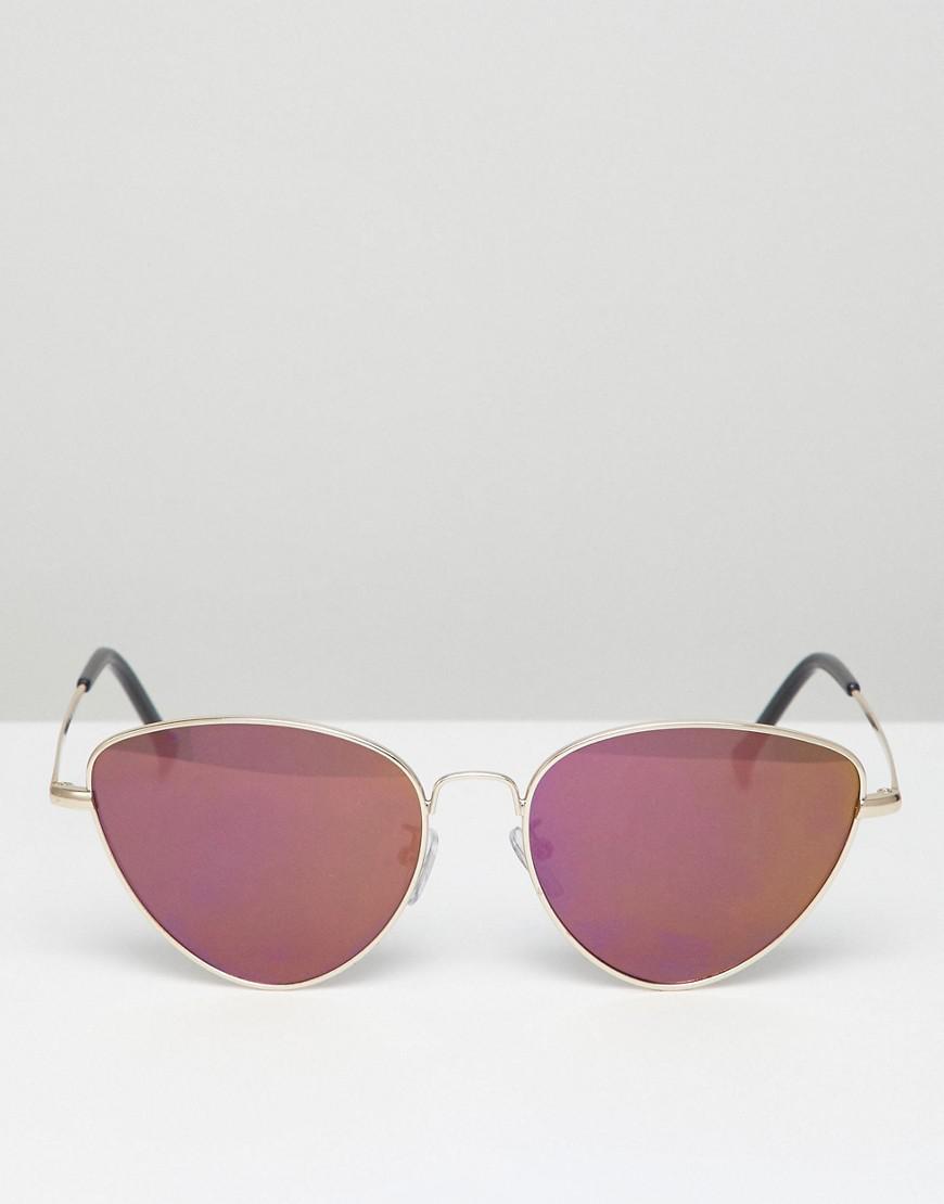 f5575c2748 A.J. Morgan Metal Cat Eye Sunglasses In Gold pink Mirror in Metallic for  Men - Lyst