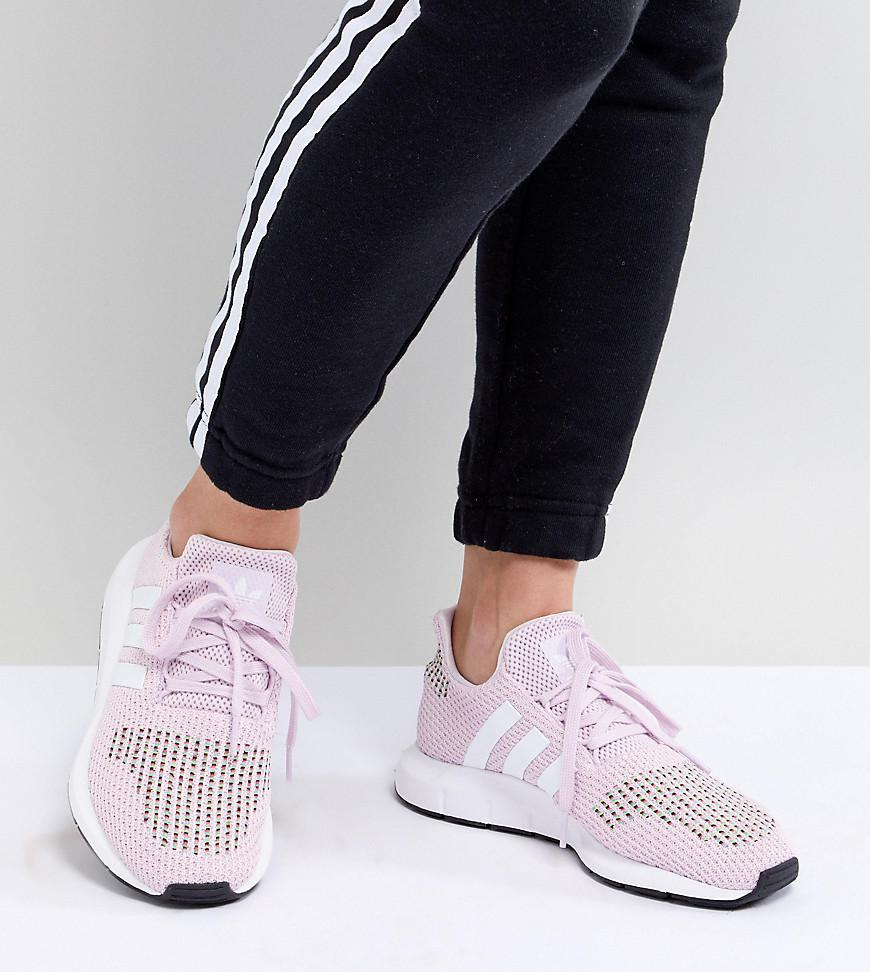 6fa858677 Lyst - adidas Originals Swift Run Sneakers In Pink Multi in Black