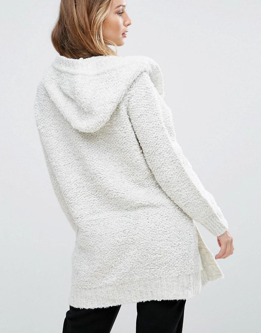 Pepe jeans Rizzo Alpaca Wool Blend Hooded Cardigan in Gray | Lyst