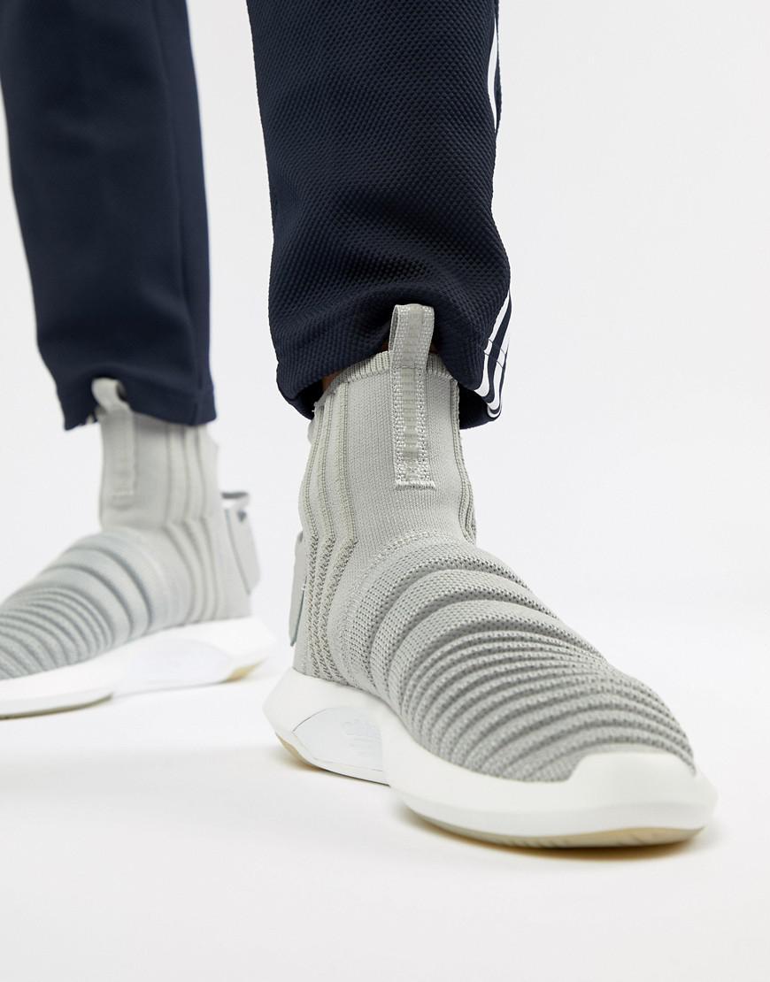 buy online d2391 ff376 adidas Originals. Mens Crazy Sock Primeknit Sneakers In Gray Cq0984