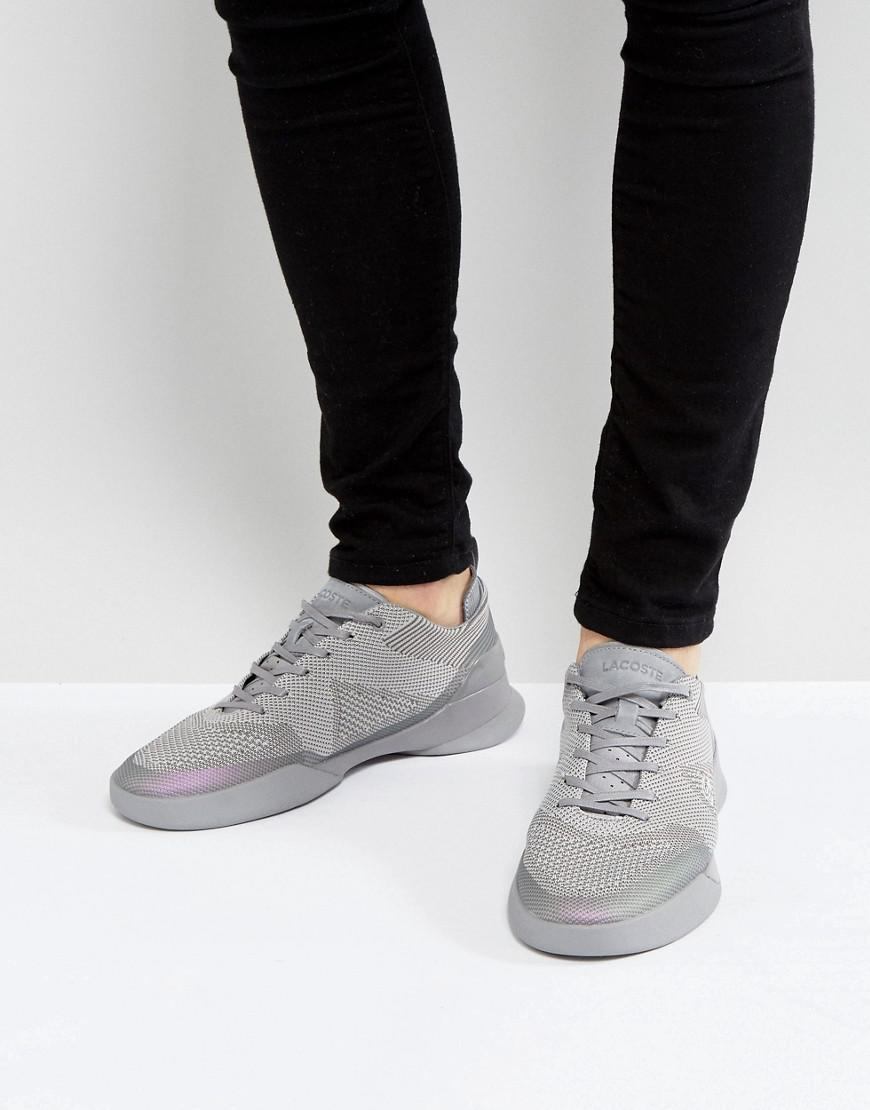 6e533d22a9510b Lacoste Dual Elite Mesh Trainers In Grey in Gray for Men - Lyst