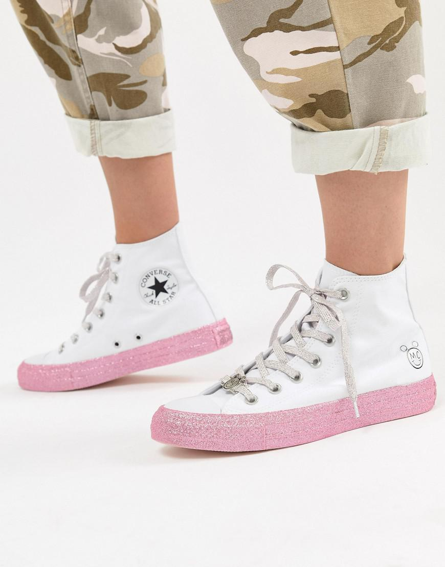 b3ee62a67066 Lyst - Converse X Miley Cyrus Chuck Taylor All Star Hi Sneakers In ...