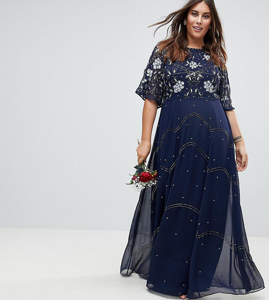 d940b1d05f3 ASOS Asos Design Curve Bridesmaid Embellished Floral Flutter Sleeve ...