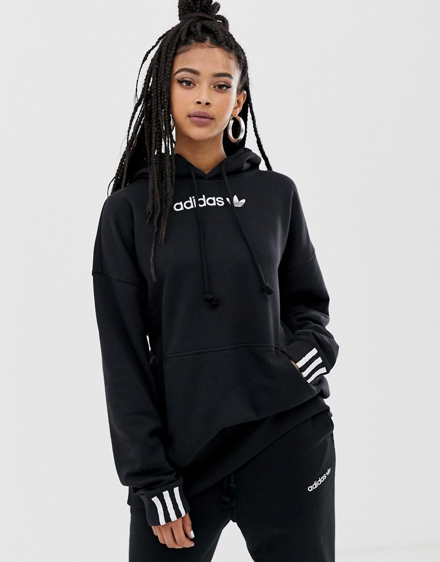 In Lyst Adidas Coeeze Black Hoodie Originals xq1tXtf7
