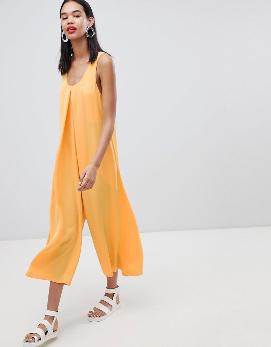 7ce1c451d21 Weekday Volume Jumpsuit in Yellow - Lyst