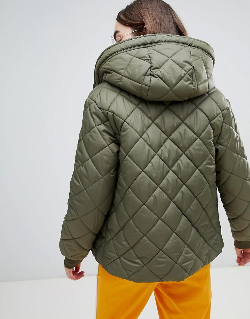 66d99993ca3 Lyst - Converse Quilted Puffer Jacket In Khaki in Green