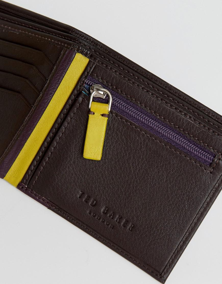 a0a02d73b Ted Baker Corcoin Coin Wallet In Leather In Brown in Brown for Men ...