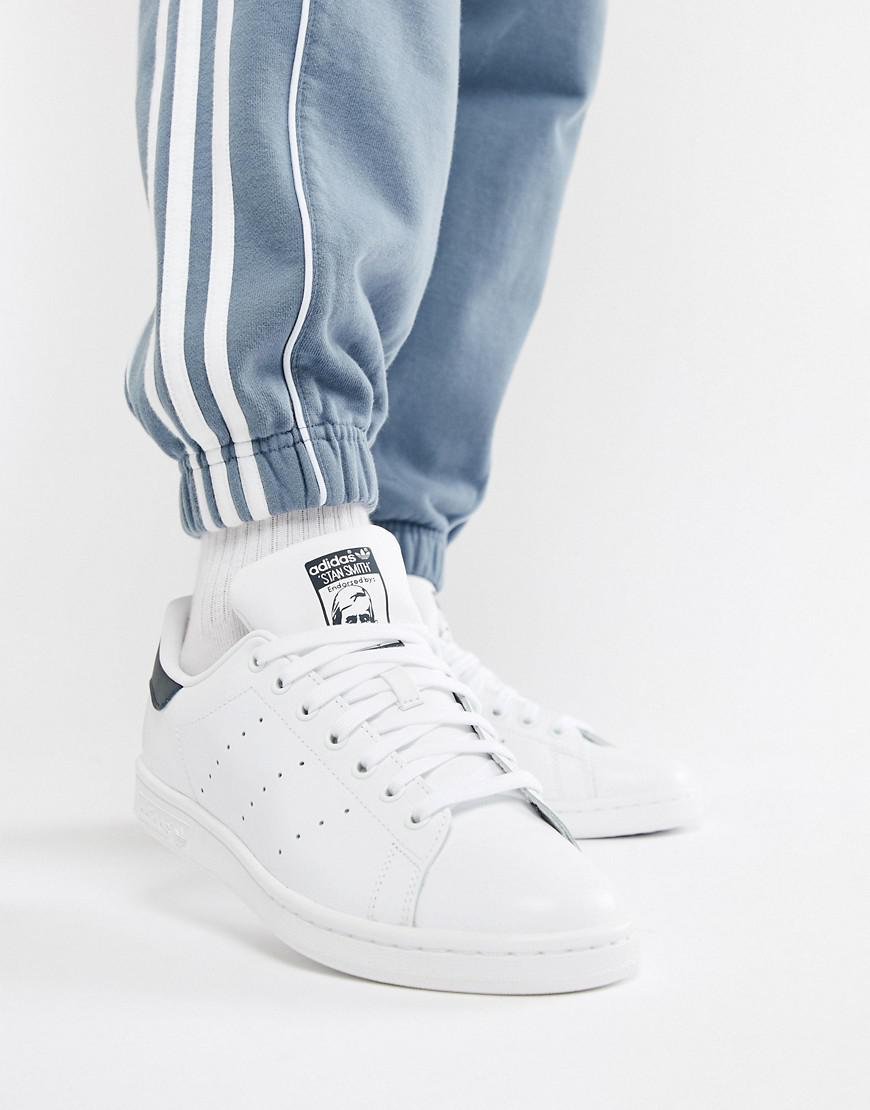 Lyst - adidas Originals Stan Smith Leather Sneakers In White M20325 ... a9eb5f0655cbe