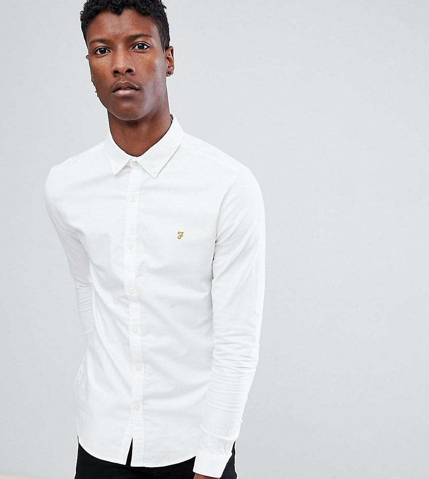f70b9736879 Farah Stretch Skinny Fit Oxford Shirt Buttondown Exclusive In White ...