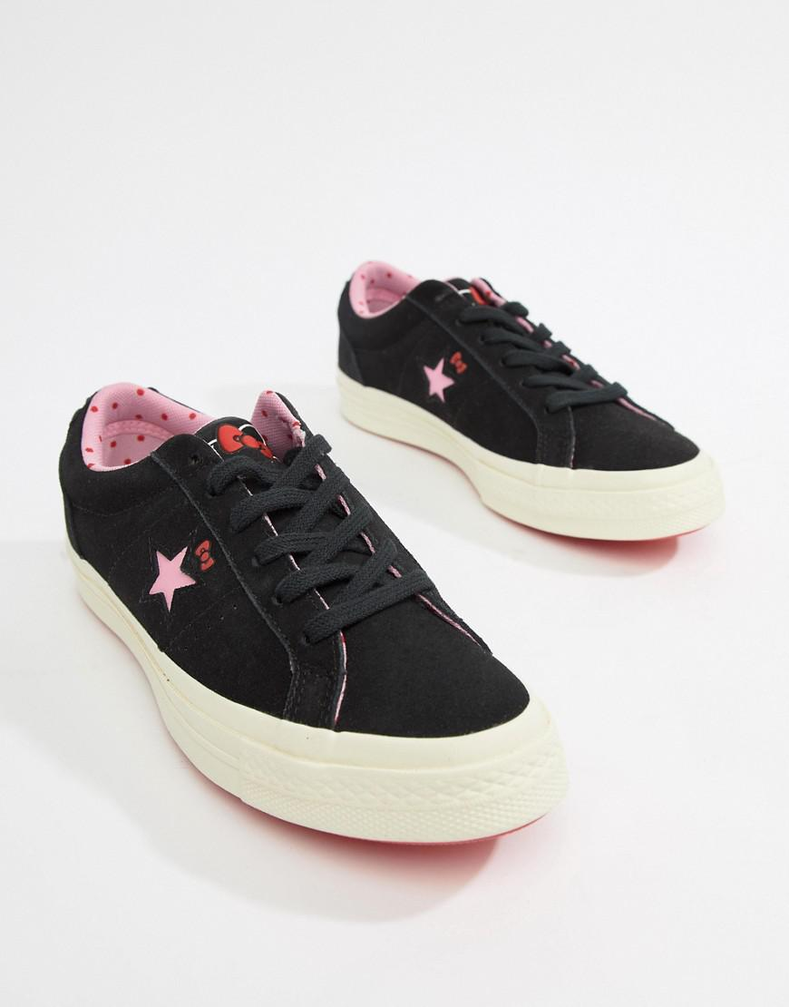 80032f7eef7d Lyst - Converse X Hello Kitty One Star Sneakers in Black