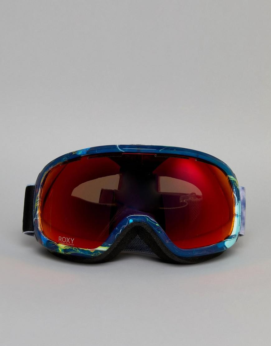 217c37dbcf2 Lyst - Roxy Rockferry Printed Ski Goggles