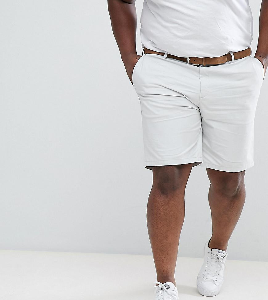 Mens Big and Tall light Blue belted chino shorts River Island 4TYRCz6pMF