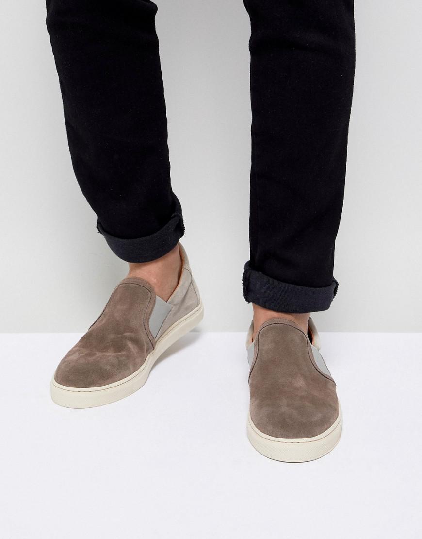Selected Premium Suede Slip On Sneakers qr2HRA0q9