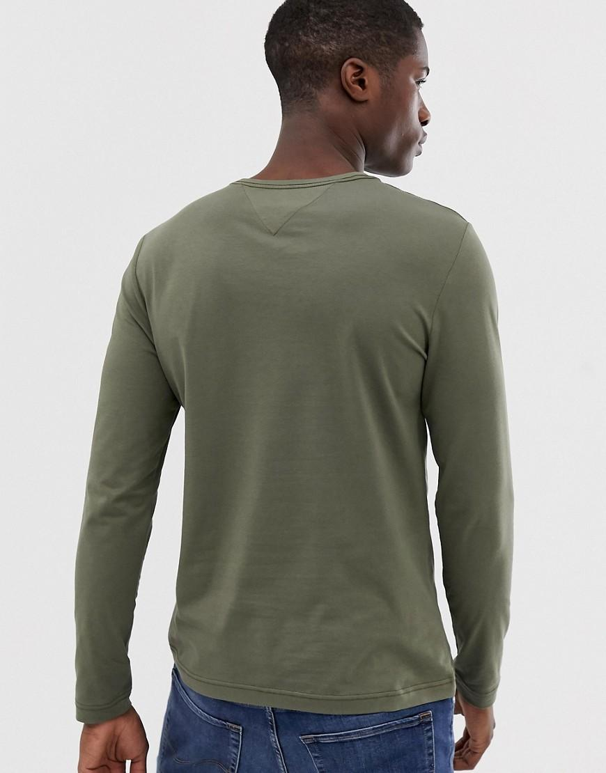 1e194a5a7 Tommy Hilfiger Exclusive To Asos Long Sleeve Top Pique Icon Flag Log In  Dusty Olive in Green for Men - Lyst
