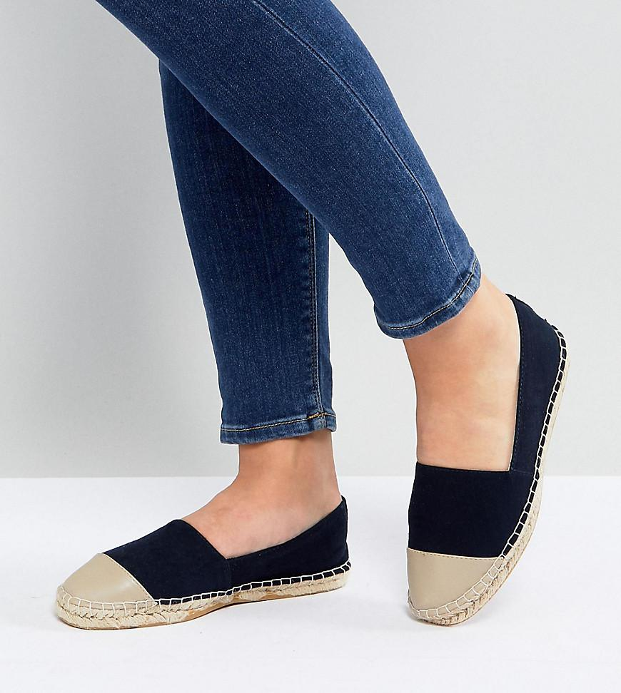 ASOS DESIGN Wide Fit Espadrilles In Black Mesh discount pay with visa 8CpInZYhxX