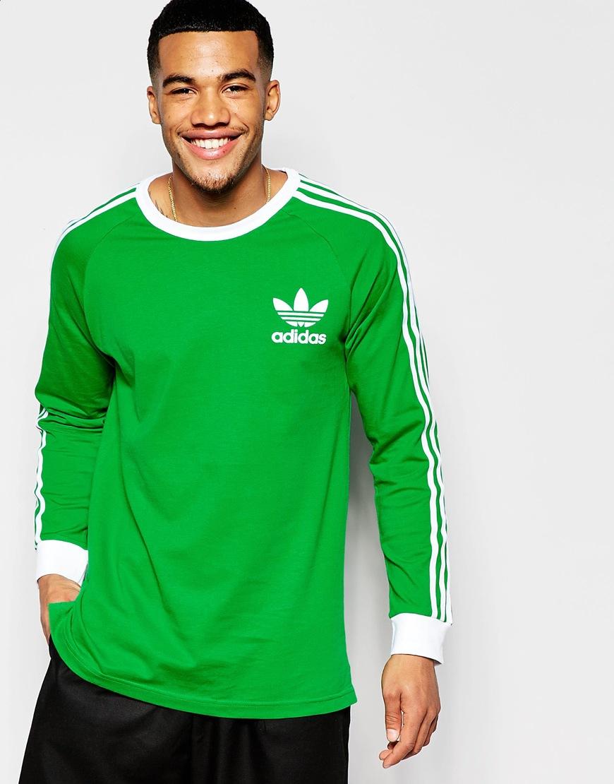 Lyst Adidas Originals Adicolor Long Sleeve T Shirt In Green B10658