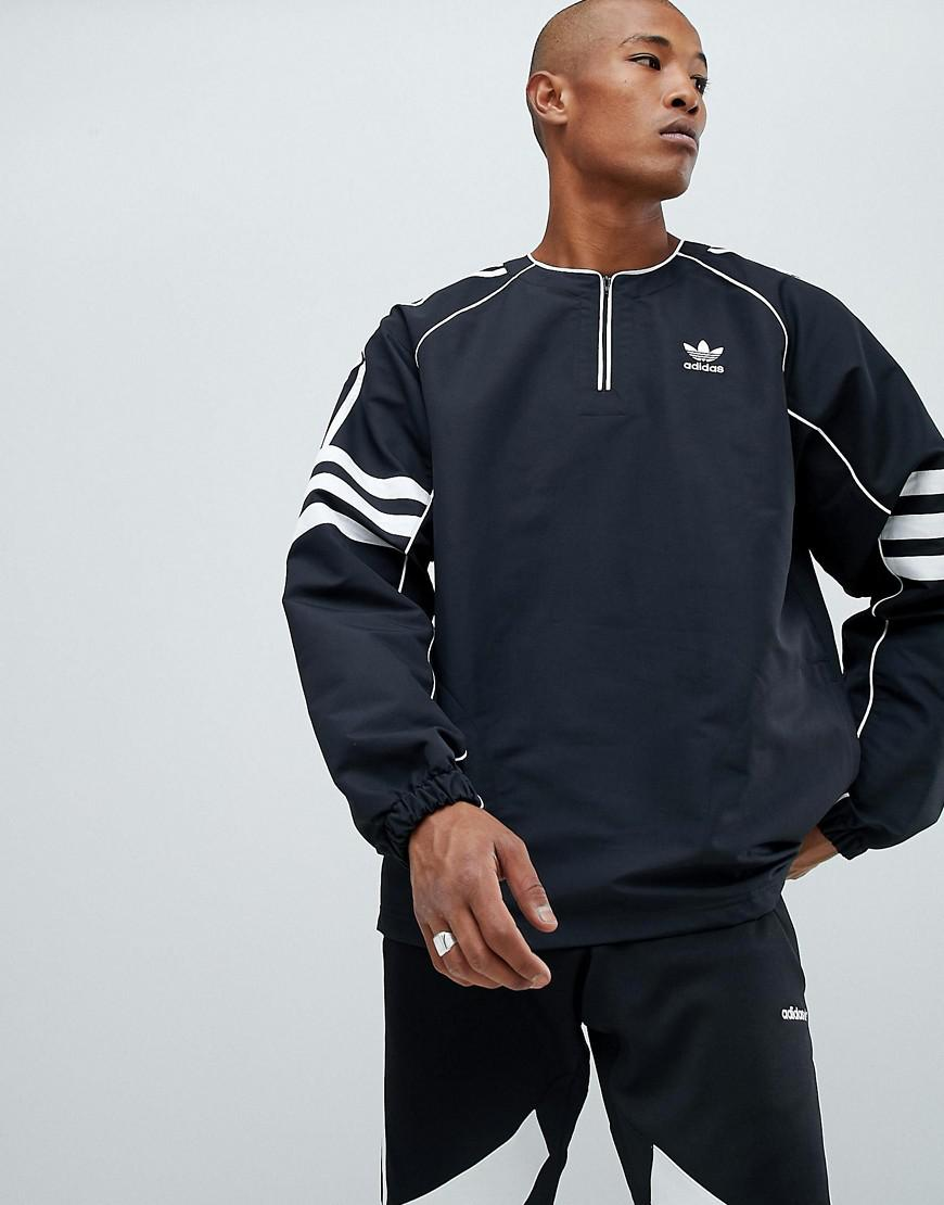 cde565cea42 Adidas Originals Authentic Half Zip Top In Black Dh3837 in Black for ...
