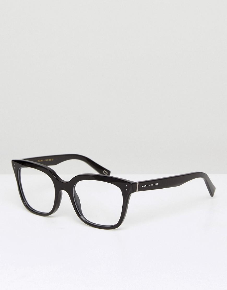 93ce00c34865 Lyst - Marc Jacobs Square Optical Frames With Demo Lenses In Black ...