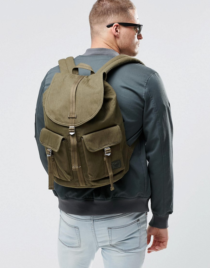 1438f7386fe Lyst - Herschel Supply Co. Dawson Backpack In Military Inspired Army ...