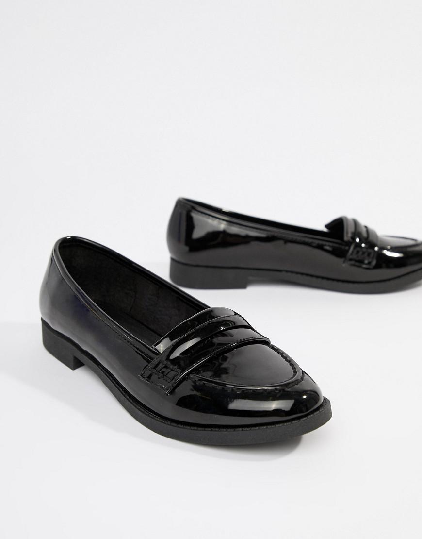 af9925386a3b ASOS Minny Flat Shoes in Black - Lyst