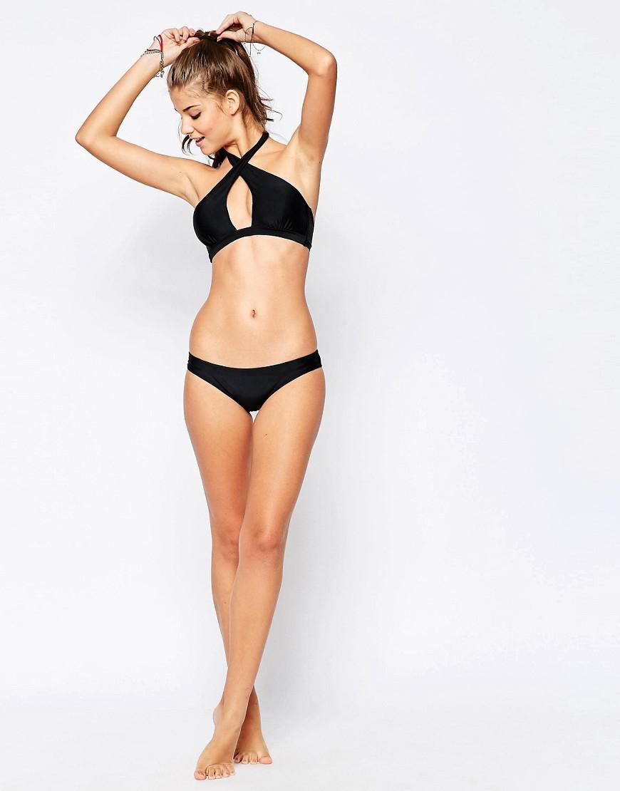 de4a0832d7 Lyst - South Beach Mix And Match Wrap Bikini Top in Black