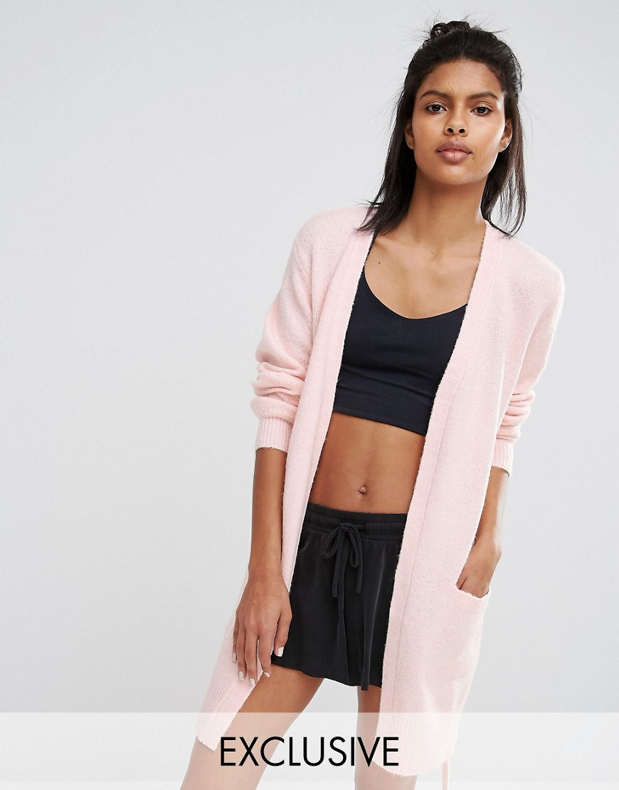 6b331484f7 Lyst - Micha Lounge Belted Cardigan in Pink