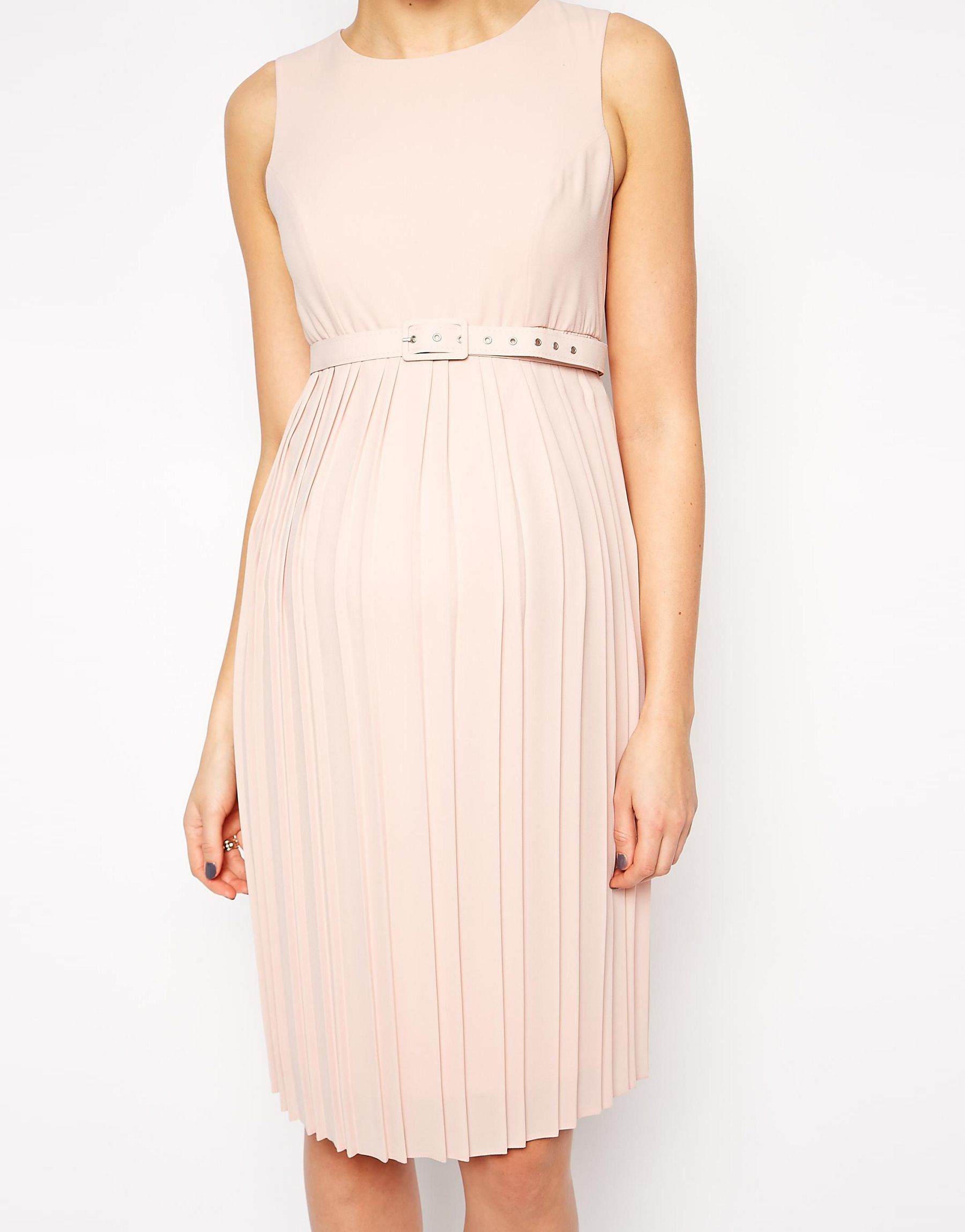 Lyst asos maternity midi skater dress with pleated skirt and gallery ombrellifo Image collections