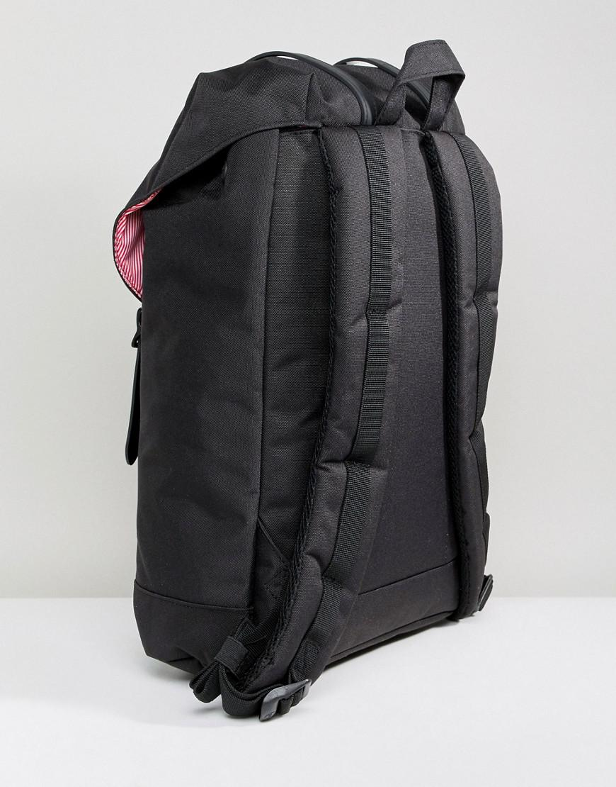 0bbfd423188b Lyst - Herschel Supply Co. Retreat Backpack In Black With Rubberised Straps  in Black for Men