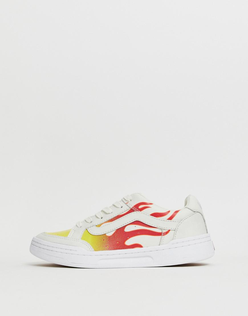61761e721fa Vans Highland White Flame Sneakers in White - Lyst