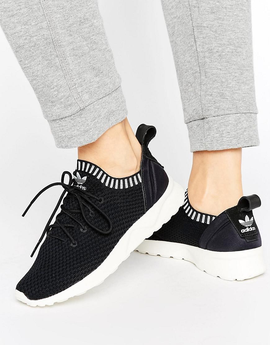 cd55f89d5 ... hot adidas originals zx flux adv virtue performance sneakers in black  lyst 9631d 588bc