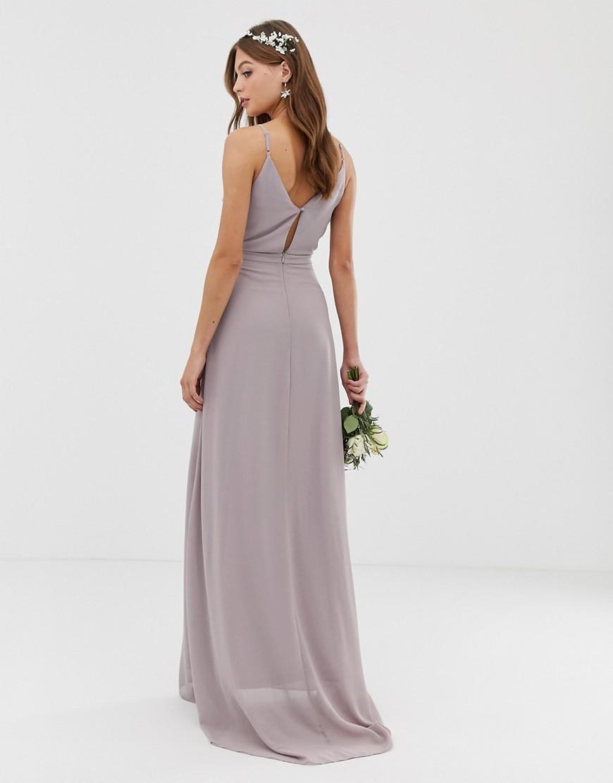 d1af19a8d086 Lyst - TFNC London Bridesmaid Exclusive Cami Wrap Maxi Dress With ...