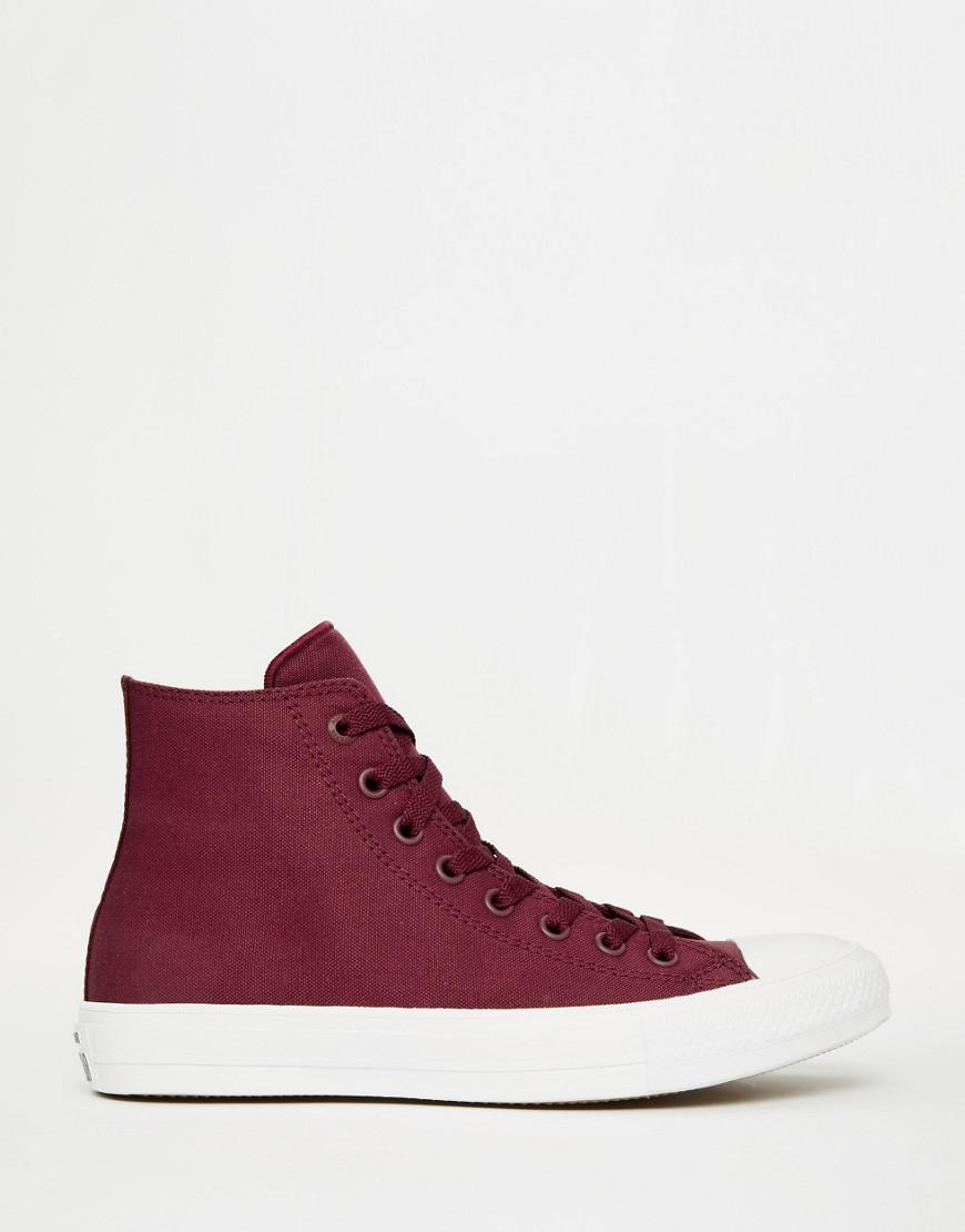 Converse Chuck Taylor All Star II Hi-Top Plimsolls In Red 150144C wiki for sale Toclqx3n