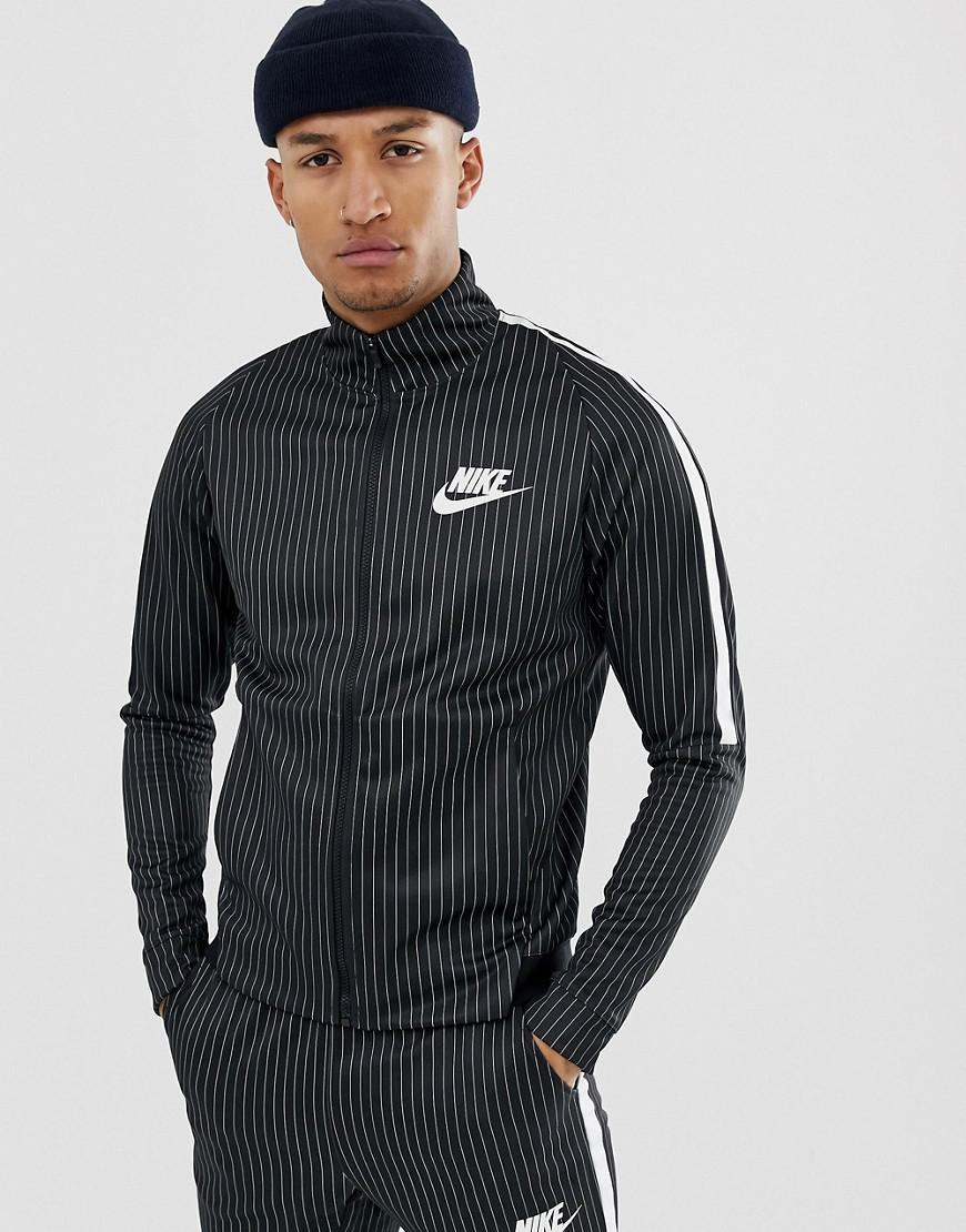 Nike Pinstripe Track Jacket In Black Bq0675-010 in Black for Men - Lyst 3ce5f0ee5