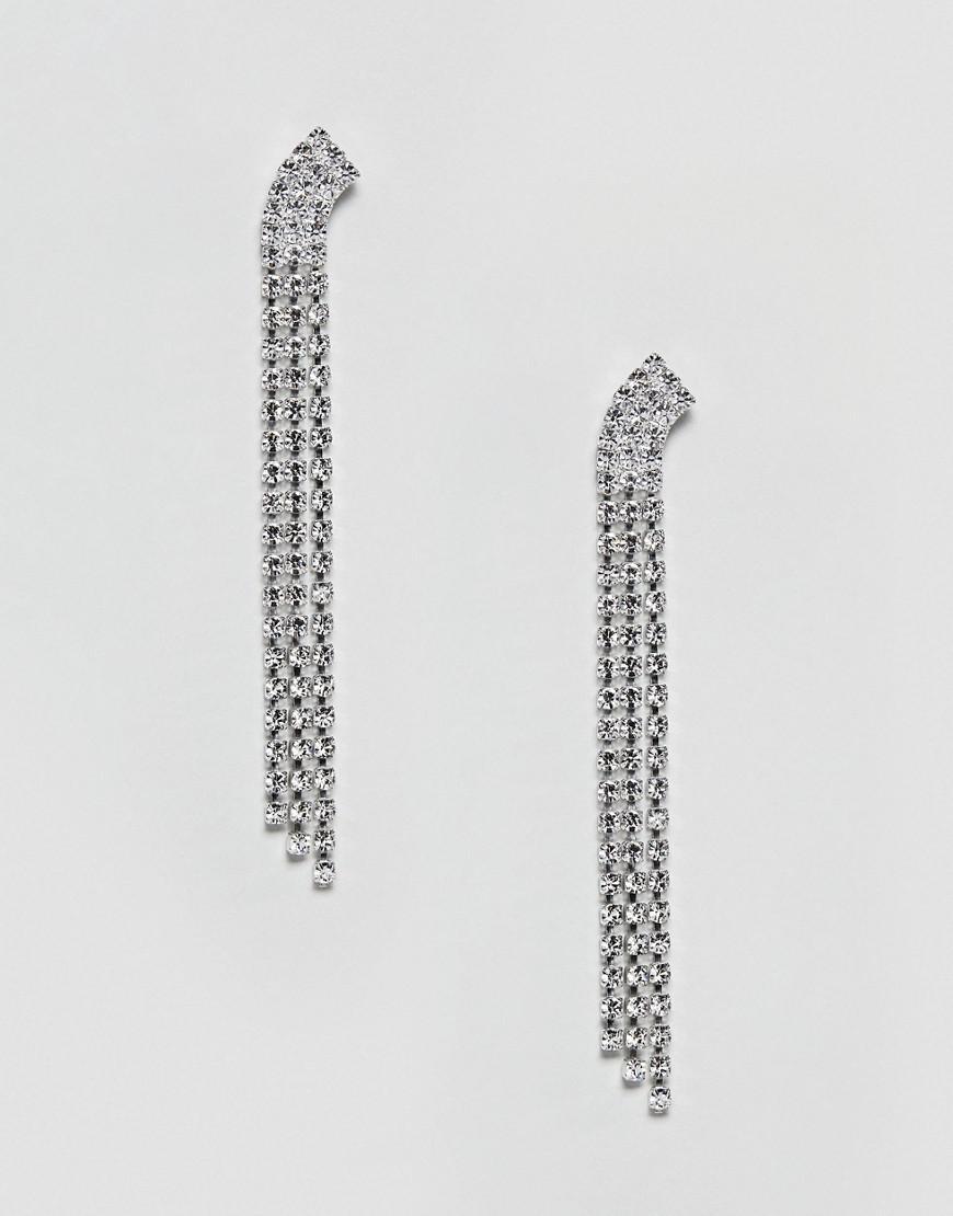 Swarovski Crystal 3 Row Dangling Earrings - Crystal Krystal zEeNkNTj