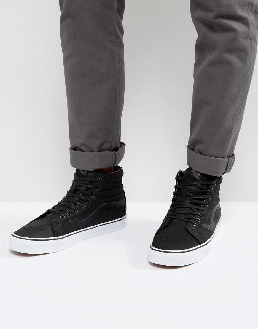 cf5e57adefb0c8 Vans Sk8-hi Reissue Premium Leather Trainers in Black for Men - Lyst