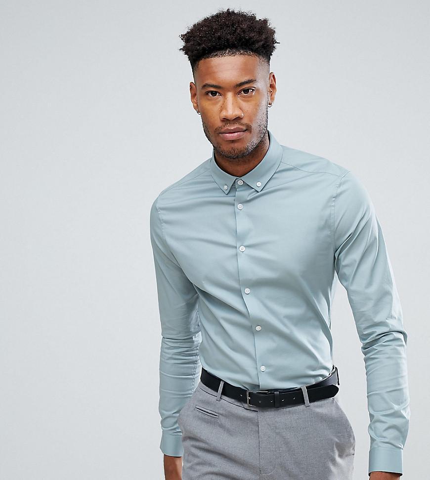 ASOS. Men's Blue Tall Skinny Shirt ...
