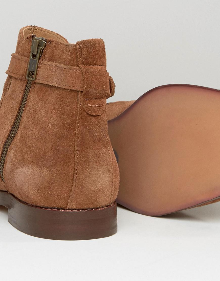 cheap price buy discount H By Hudson Cutler Suede Chelsea Boots In Tan cheap price free shipping cheap sale countdown package clearance footlocker pictures clearance under $60 GXOSC2T