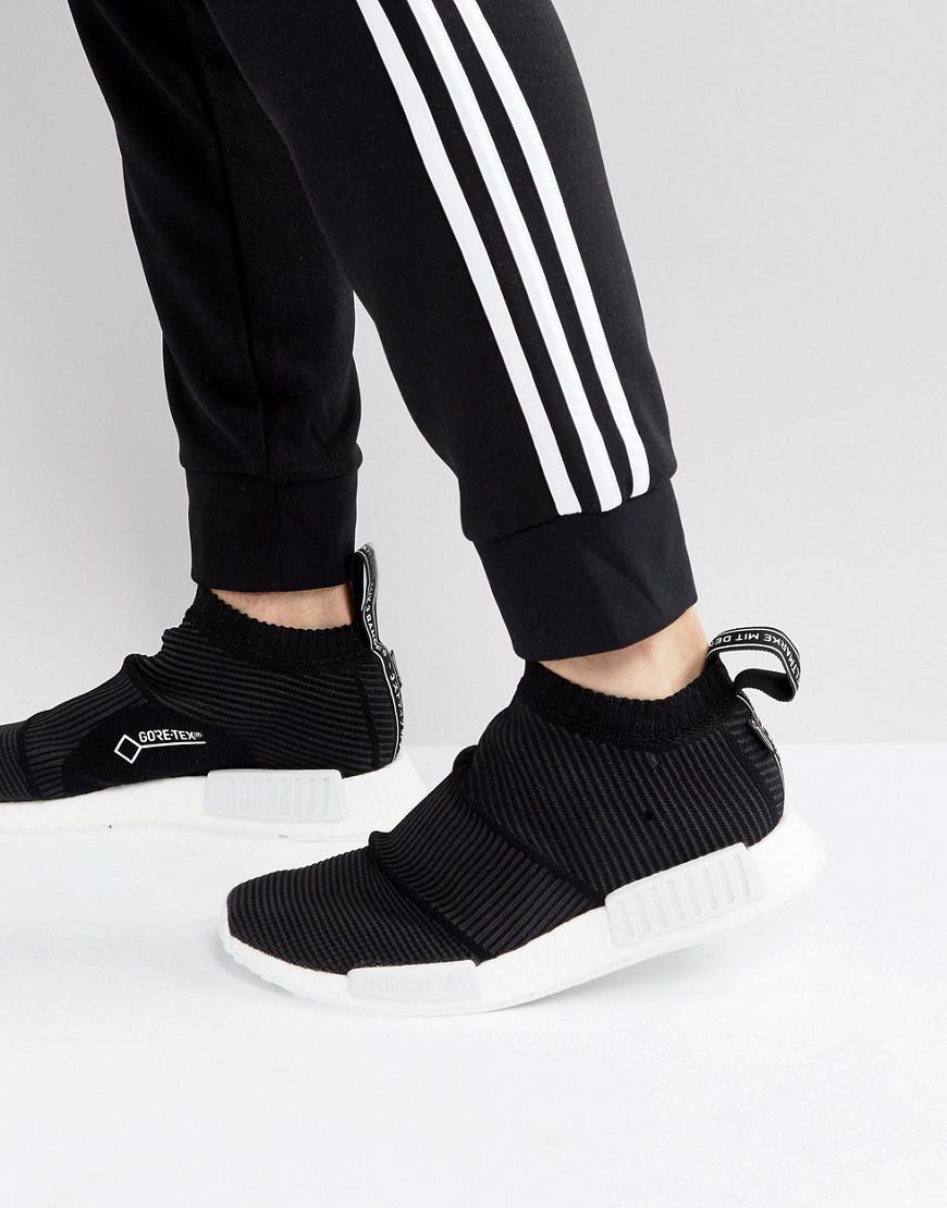 huge discount eb634 fadbf adidas Originals. Mens Nmd Cs1 Goretex Primeknit Sneakers In Black By9405