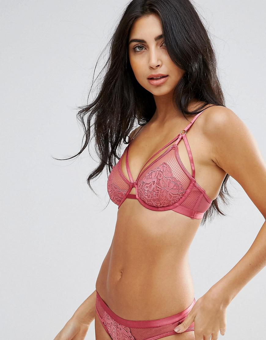 a1eb88778a Lyst - New Look Strappy Wired Bra in Pink