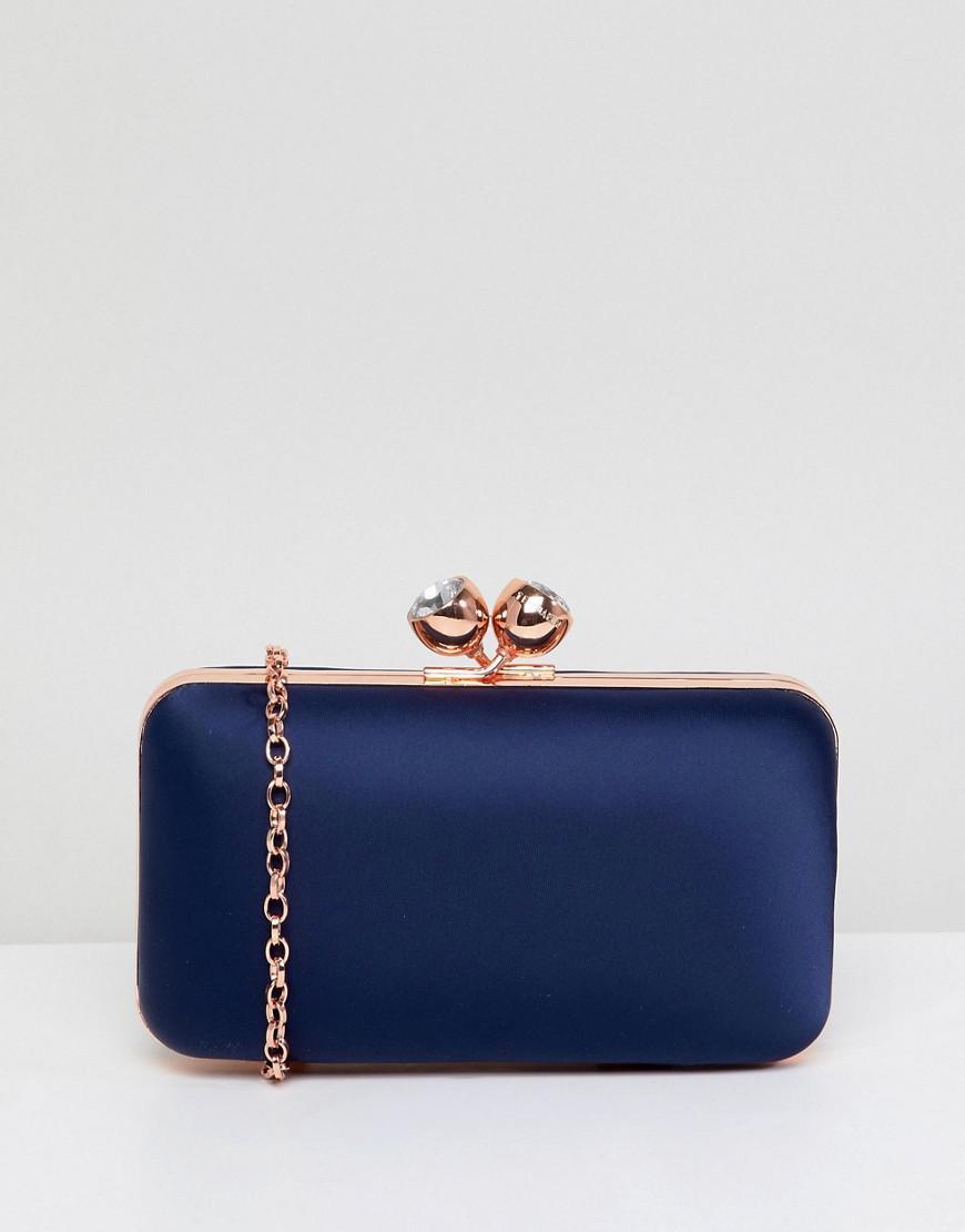 7bafed5a15802 Ted Baker Crystal Bobble Clutch Bag in Blue - Lyst