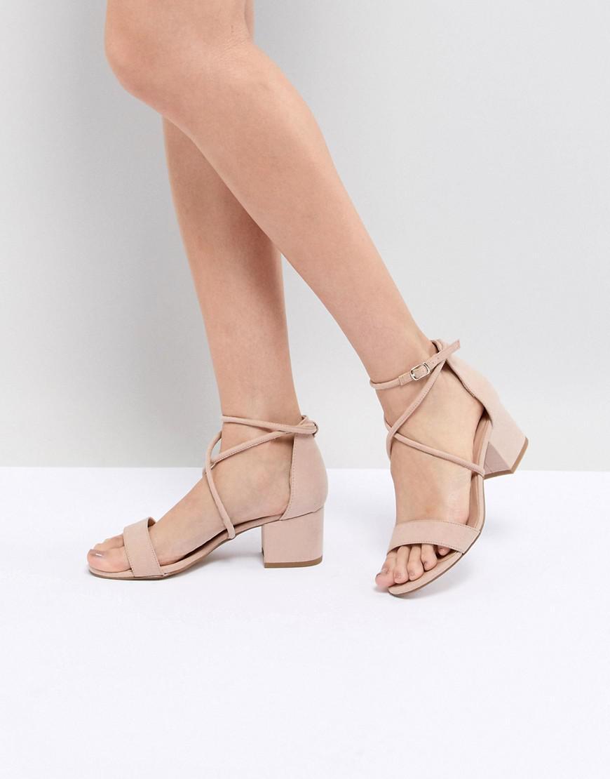 b4f59ffee8c New Look Low Block Cross Strap Sandal in Natural - Lyst