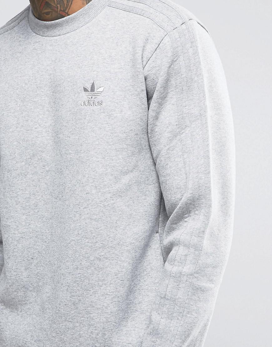 0f6b60c246b adidas Originals Trf Series Crewneck Sweatshirt In Gray Bk5895 in ...
