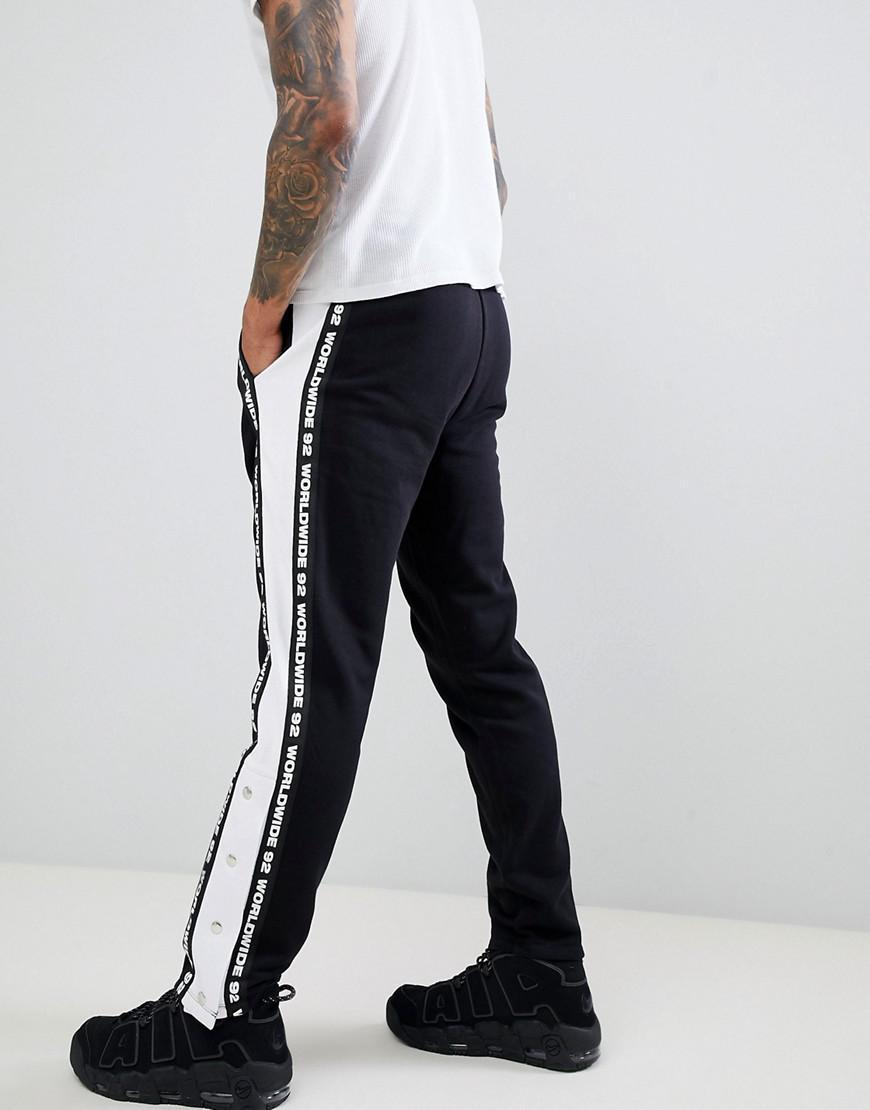 De Boutons Lyst Jogging Contrastantes Et Avec Slim Pantalon Bandes Cx5H8qTw 83cda96f488