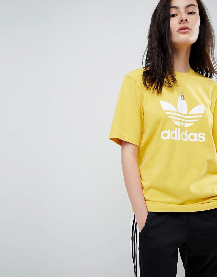 d2716dd18be adidas Originals Originals Adicolor Trefoil Oversized T-shirt In ...
