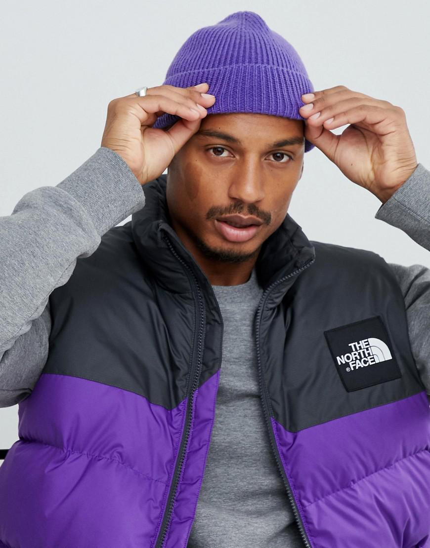 0d79e576735 Lyst - Asos Fisherman Beanie In Purple Recycled Polyester in Purple ...