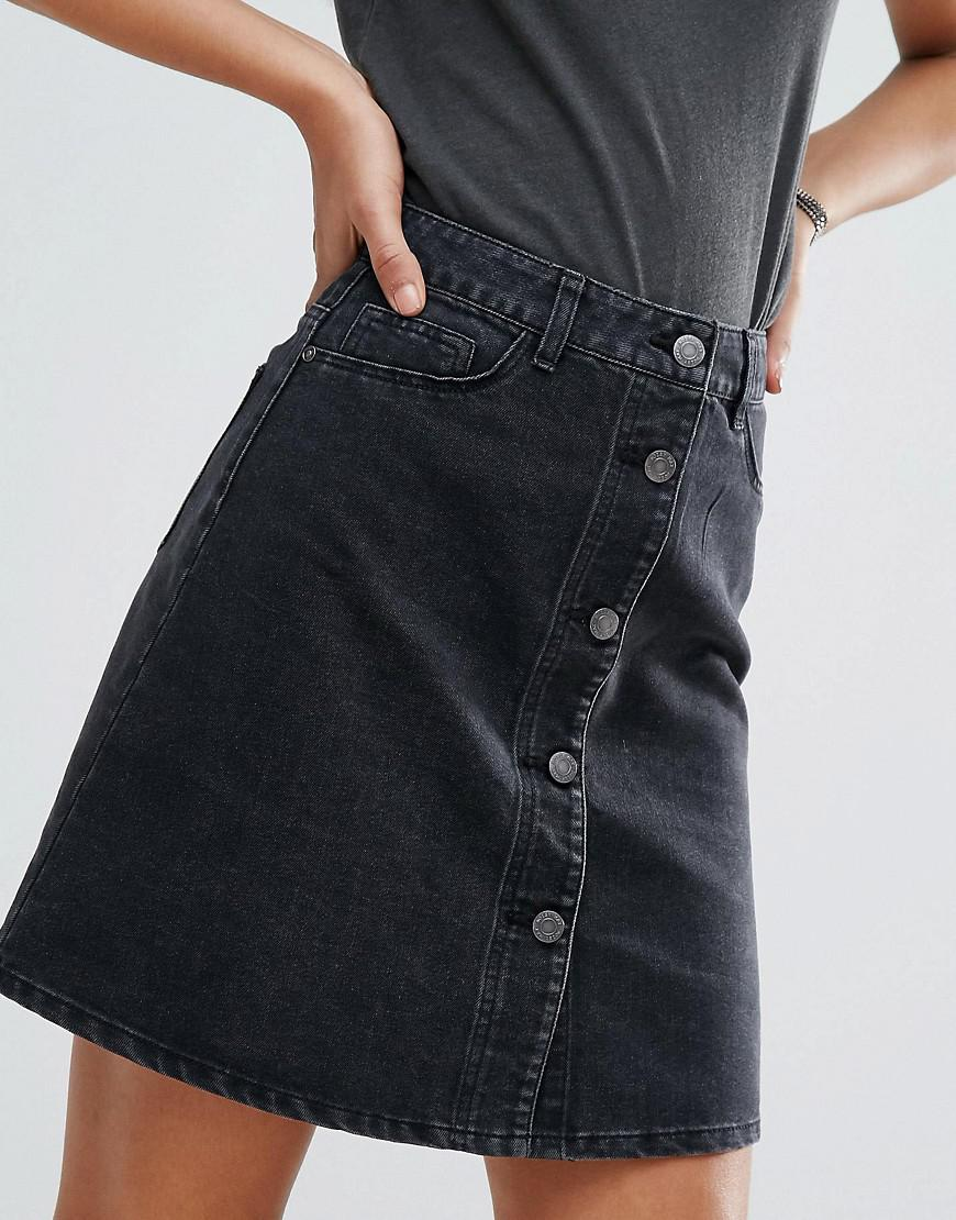 750e296147 Noisy May Tall Button Front Denim Mini Skirt – DACC