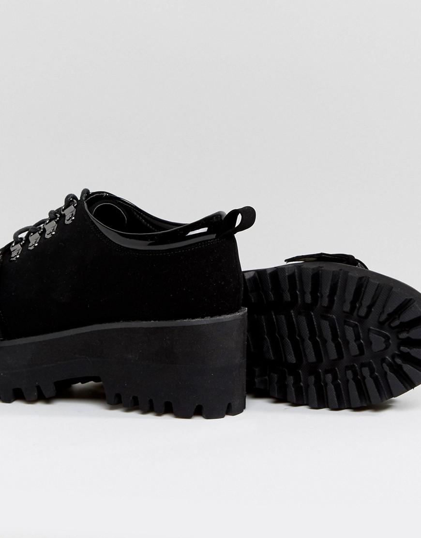 OUT OF BOUND Hiker Heeled Shoes - Black Asos 6yms1